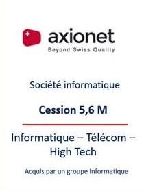 Transmission entreprise SSII Suisse