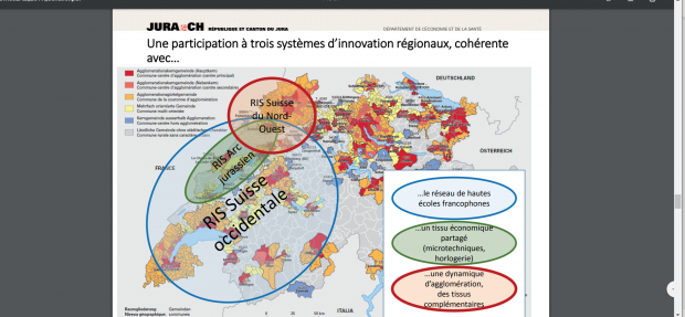 Le canton jurassien à l'intersection de 3 territoires innovants